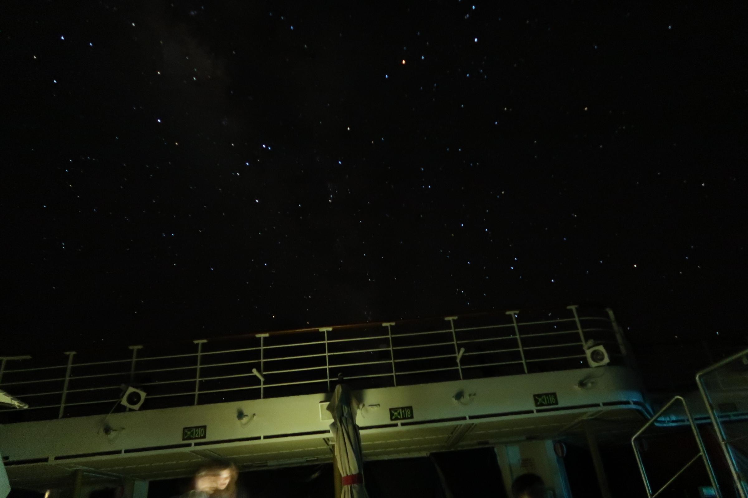 海賊 警戒海域の夜空①
