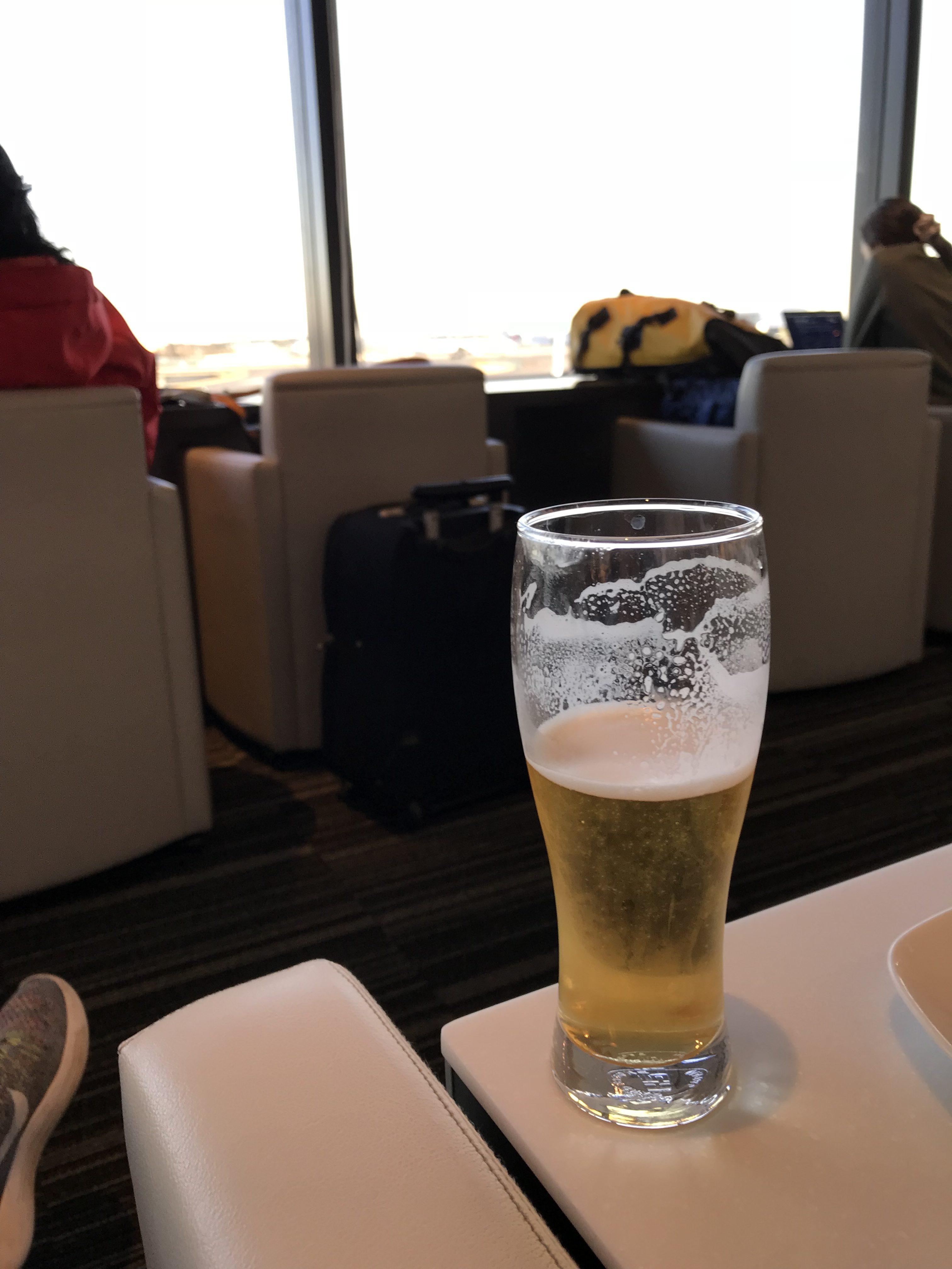 成田空港のANAラウンジ