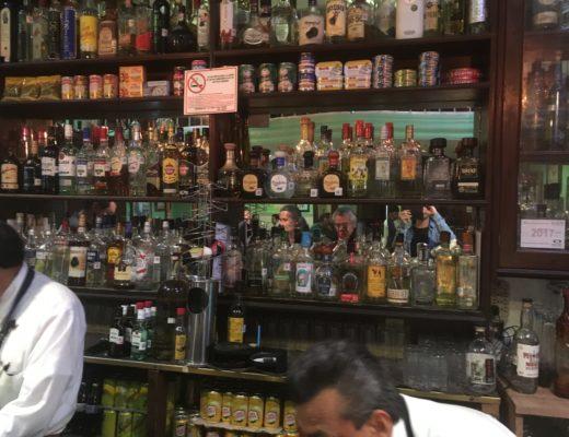 メキシコシティのバーカウンター