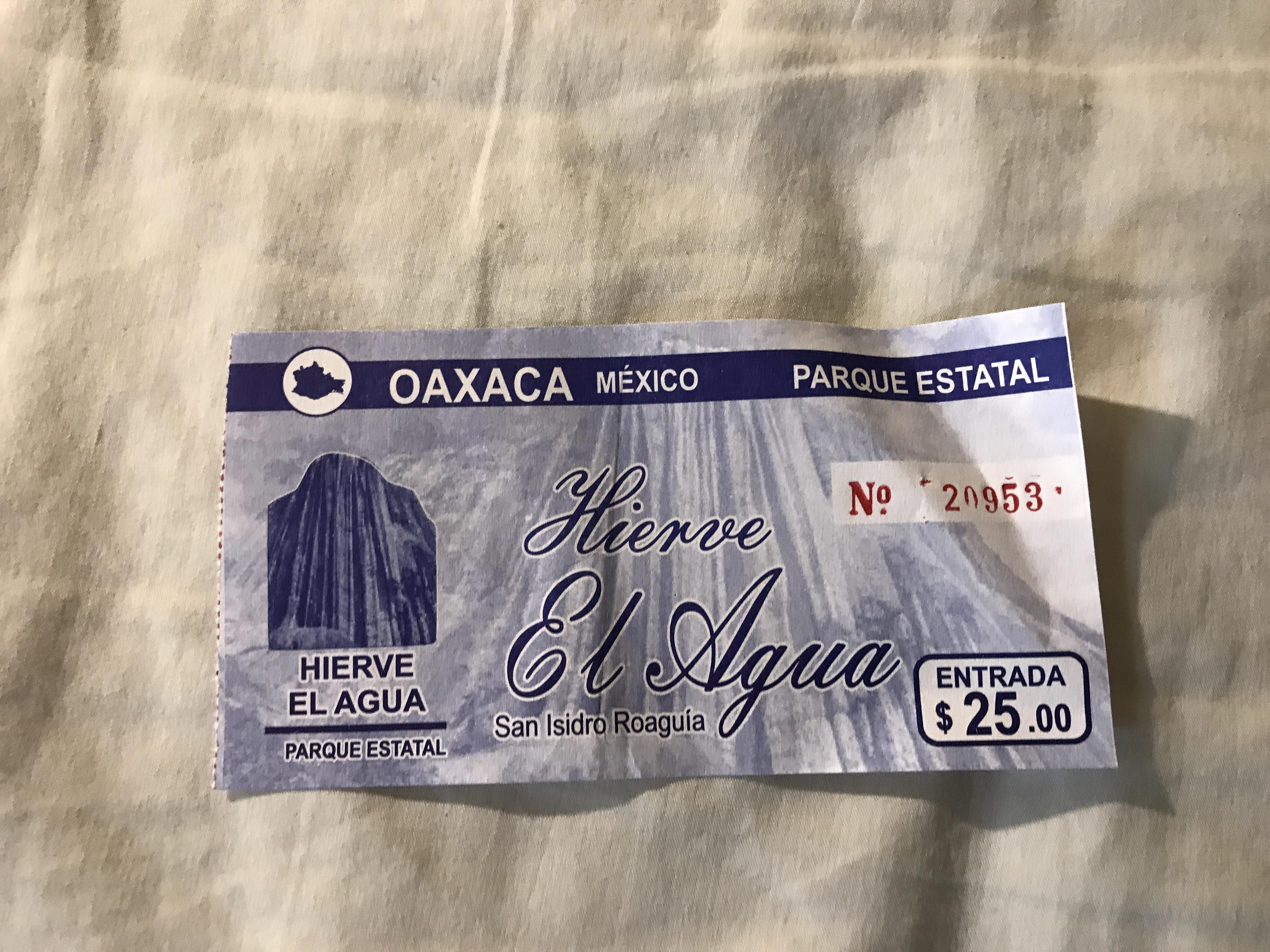 イエルベエルアグアの入場チケット