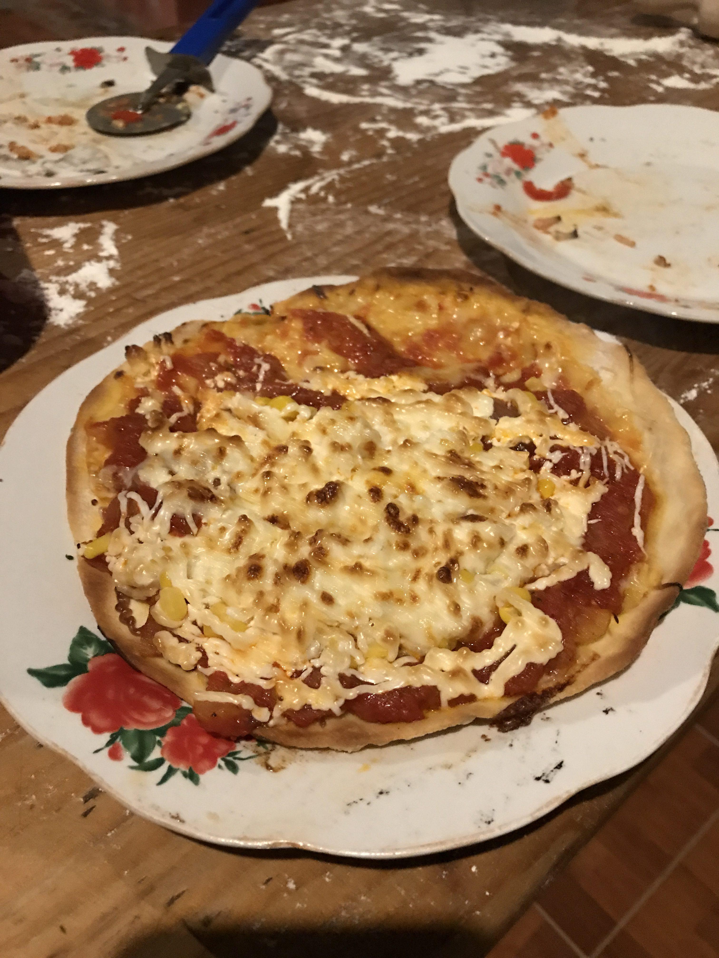 Kamomosiのピザパーティで作ったピザ