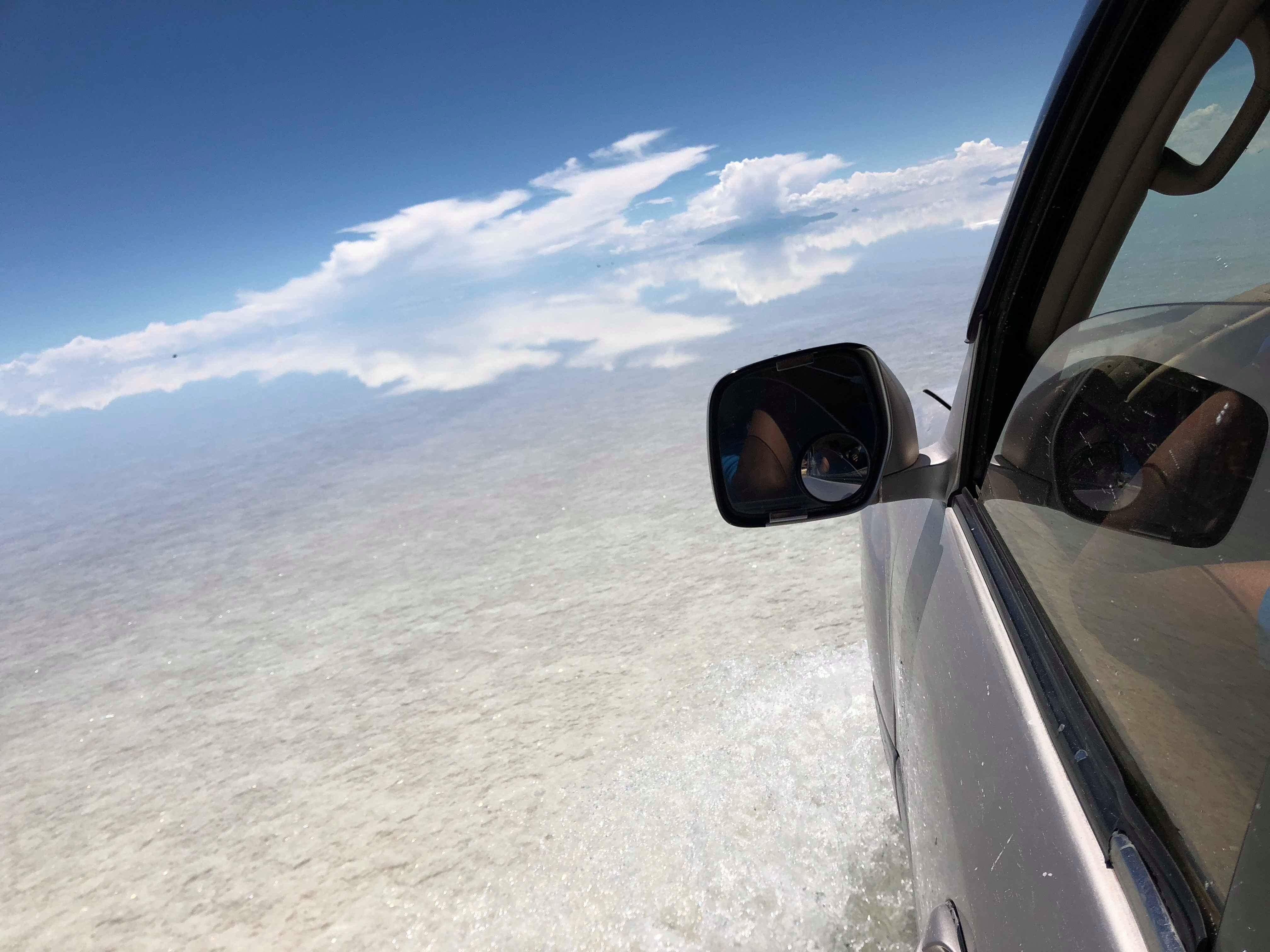 夢のウユニ塩湖到着なチパコプター
