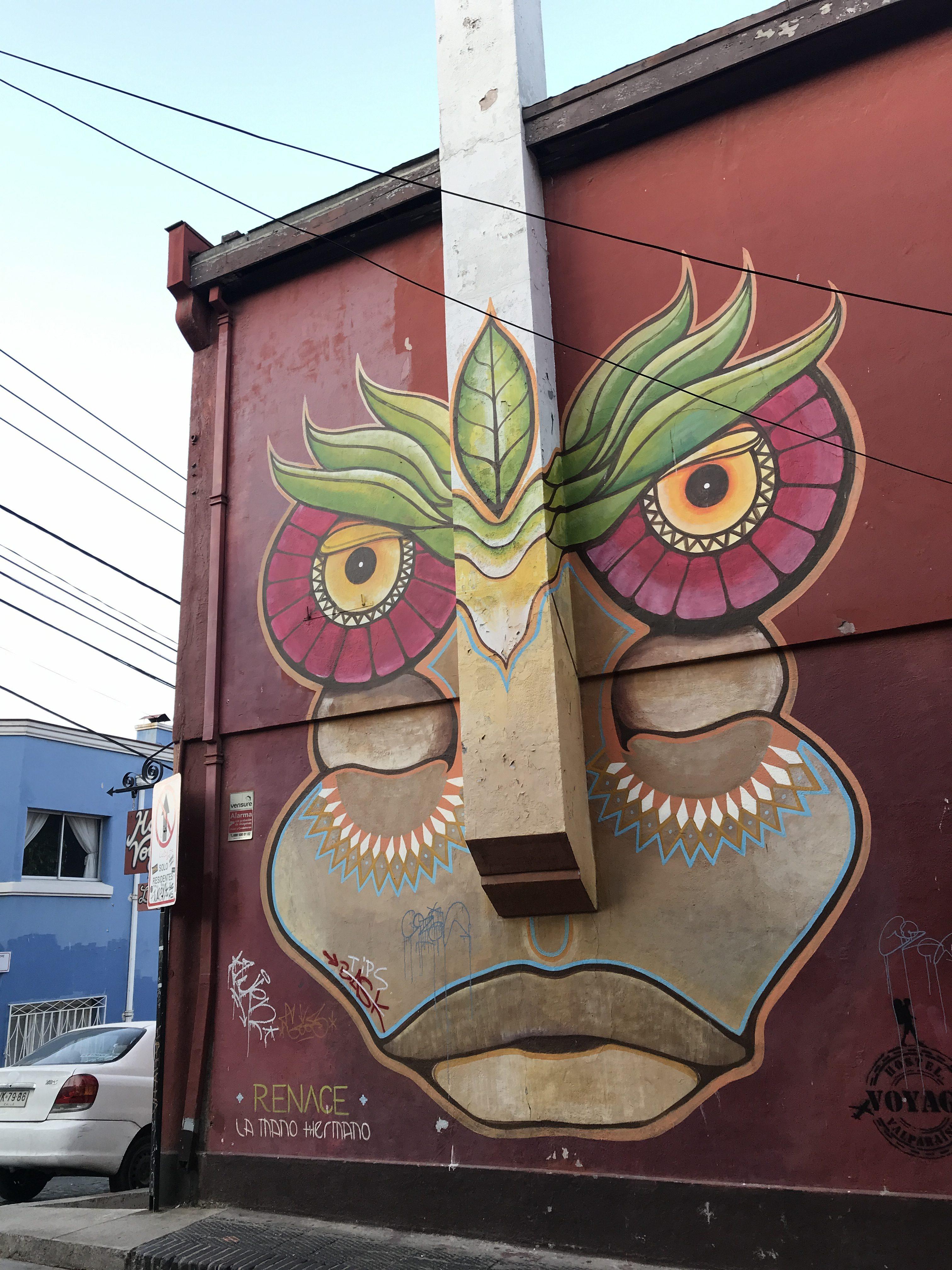 アートな街バルパライソをチパコプターがゆく