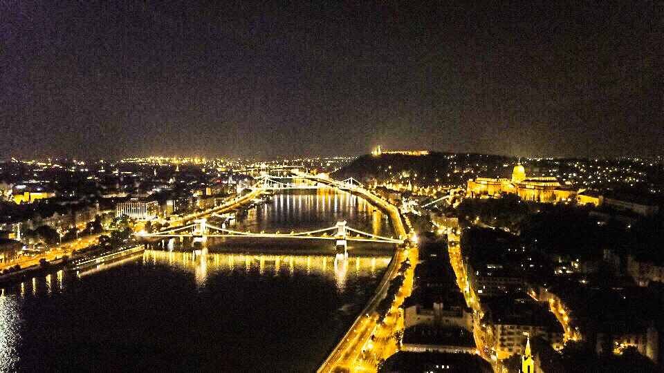 ブダペストでドローン